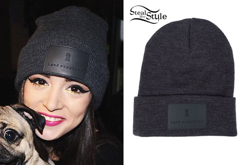 Chrissy Costanza: Leather Patch Beanie