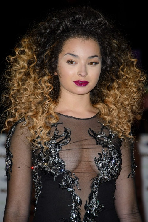 Pictures Of Natural Curly Hair With Highlights