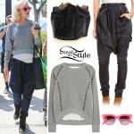 Gwen Stefani: Studded Sweater, Harem Jeans