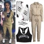 Halsey: Military Jumpsuit, Brooklyn Bralet