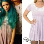Halsey: Pastel Velvet Babydoll Dress