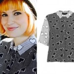 Hayley Williams: Heart Print Button-Up Shirt