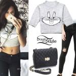 Jasmine Villegas: Bugs Bunny Crop Sweater