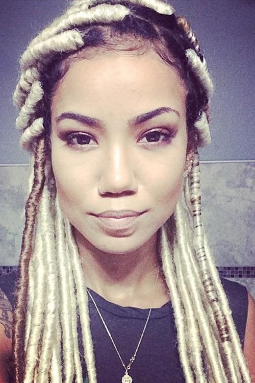 Jhen 233 Aiko Platinum Blonde Braids Dark Roots Faux Dreads