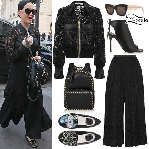 Katy Perry: Lace Jacket & Culottes