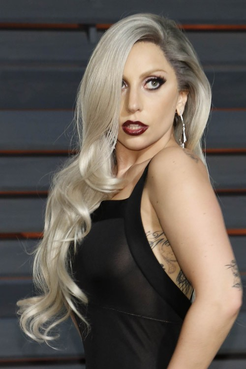 Lady Gaga Wavy Silver Long Layers, Loose Waves Hairstyle | Steal Her ... Lady Gaga
