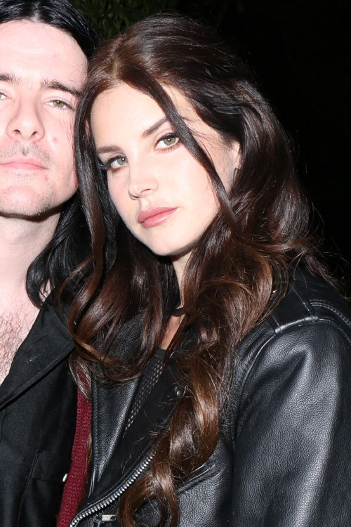 Lana Del Rey Wavy Dark Brown Face Framing Pieces Pinned Back Hairstyle Steal Her Style