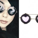 Lexus Amanda: Heart Round Sunglasses