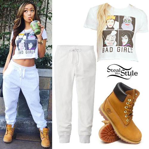 Liane V: 'Bad Girls' Tee, Timberland Boots