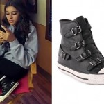 Madison Beer: Buckle Hi-Top Sneakers