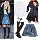 Meghan Trainor: Lace Trench, Leopard Skirt