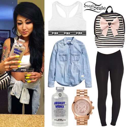 Melissa Marie Green: Pink Logo Bra Outfit