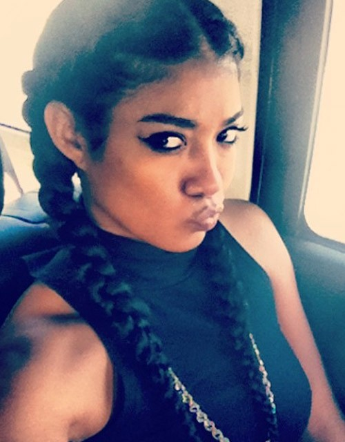 Pleasing Mila J Straight Black Pigtail Braids Hairstyle Steal Her Style Hairstyles For Women Draintrainus