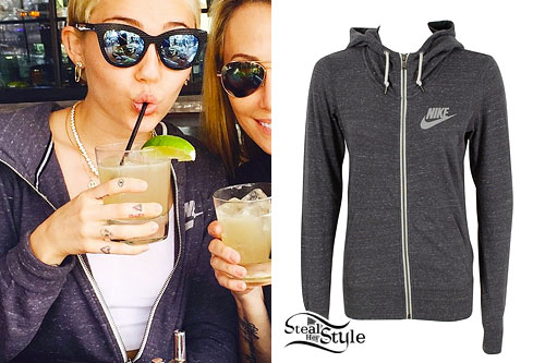 Miley Cyrus: Speckled Gray Hoodie