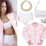 Natalie La Rose: Pink Star Jacket