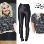 RaeLynn: Polka Dot Top, Disco Pants