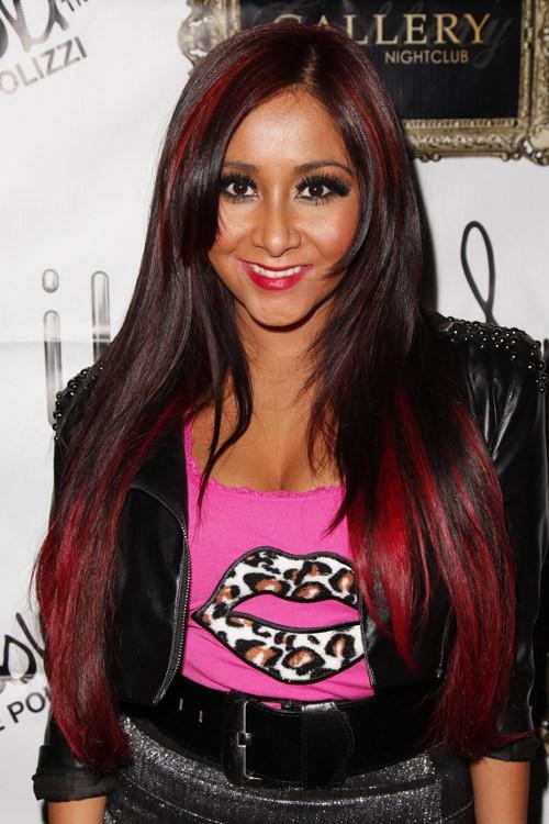 snooki hairstyles : Snooki Red And Black Hair snooki ? nicole polizzi hair steal her ...