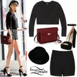 Taylor Swift: Crop Top, Black Shorts