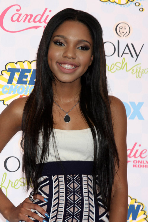 Teala Dunn Straight Black Angled Flat Ironed Peek A Boo