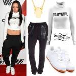 Tinashe: 'Babygirl' Turtleneck, White Sneakers