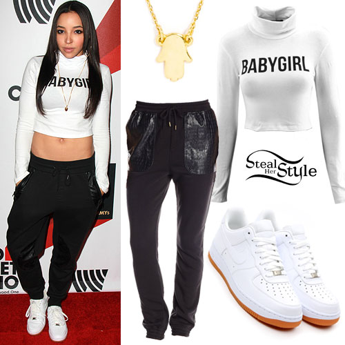Tinashe: 'Babygirl' Turtleneck, White Sneakers