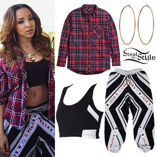Tinashe: Peace Love Striped Sweatpants