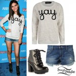 Victoria Justice: 'Yay' Sweater, Denim Shorts