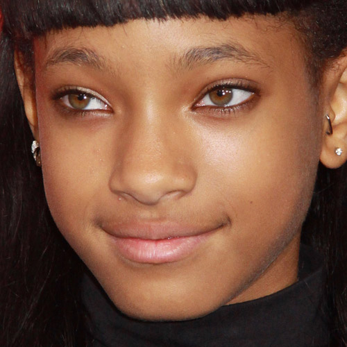 Willow Smith Makeup Beige Eyeshadow Amp Pale Pink Lipstick