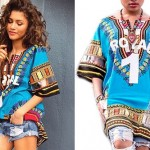 Zendaya: Blue 'Royal 1' Dashiki Top