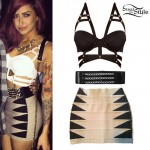 Allison Green: Caged Bralet, Bandage Skirt