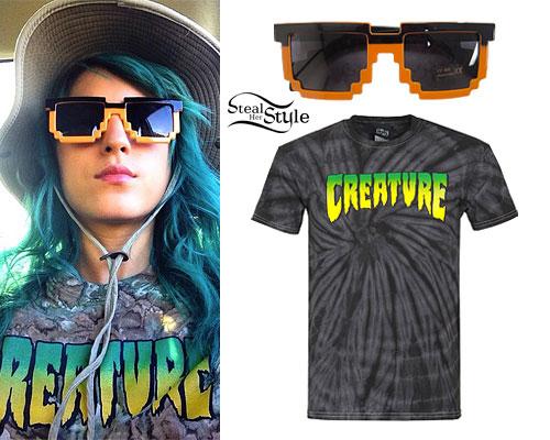 Anissa Rodriguez: Pixel Sunglasses, Creature Tee