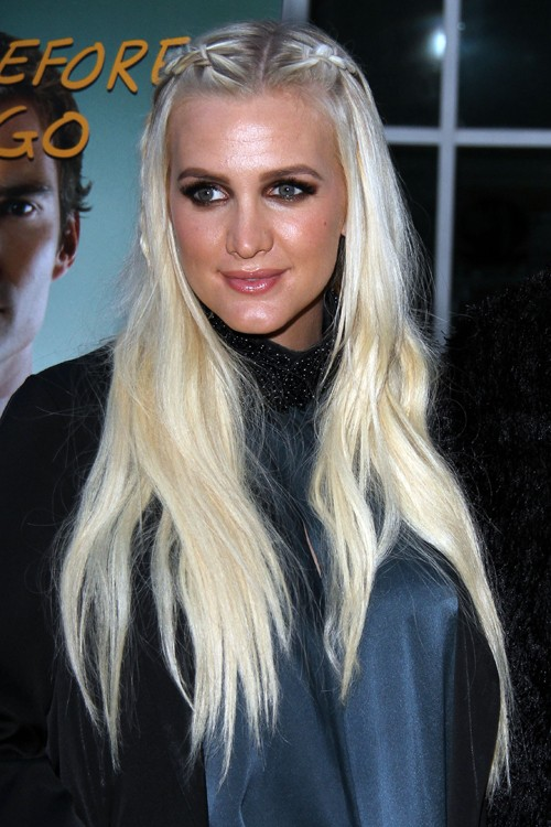 Ashlee Simpson Straight Platinum Blonde Mini Braids ...