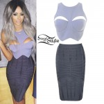Aubrey O'Day: Cutout Top, Bandage Skirt