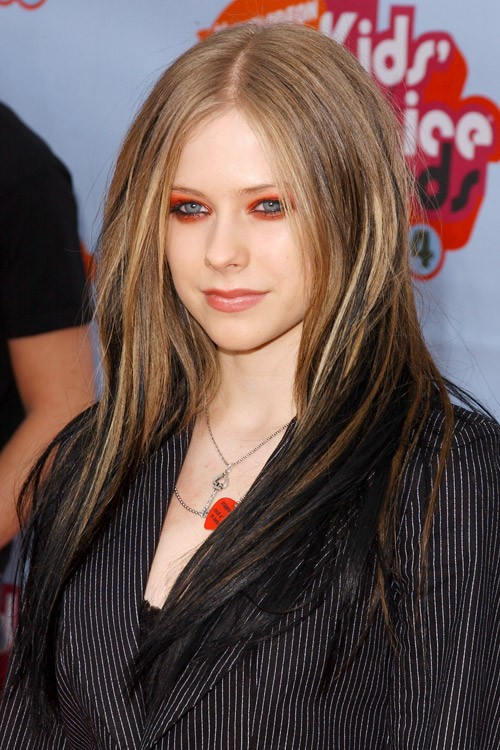 avril hair style avril lavigne light brown angled two tone 5753