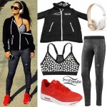 Becky G: Dot Bra, Heather Leggings