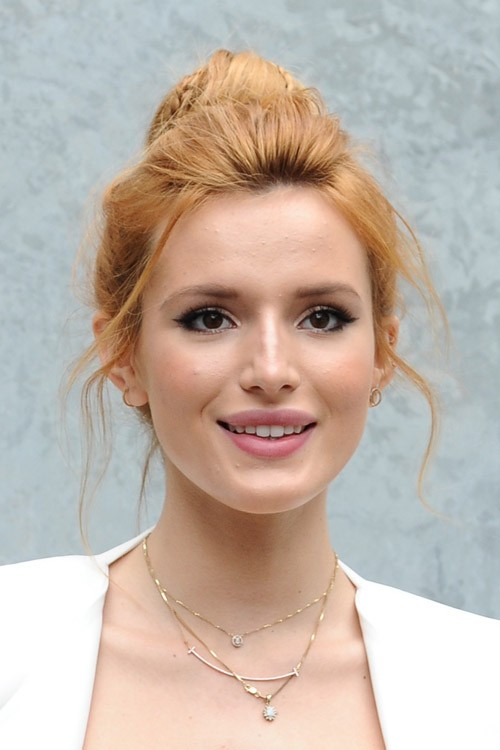 Bella Thorne Straight Ginger Bun Face Framing Pieces