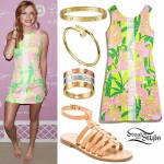 Bella Thorne: Printed Sundress Outfit