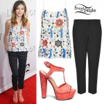 G. Hannelius: Floral Beaded Tank Top