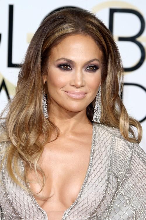Jennifer Lopez Wavy Medium Brown Ombr 233 Hairstyle Steal