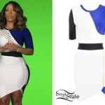 K. Michelle: Colorblock Bandage Dress