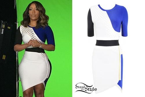 K Michelle Colorblock Bandage Dress