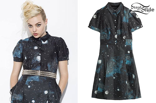 Kaya Stewart: Galaxy Shirtdress