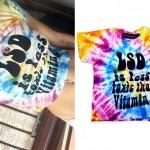 Miley Cyrus: LSD Tie-Dye T-Shirt