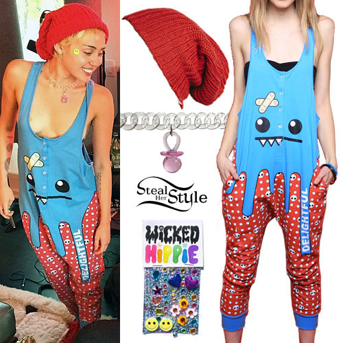 Miley Cyrus: Monster Face Jumpsuit