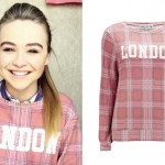Sabrina Carpenter: London Plaid Sweatshirt