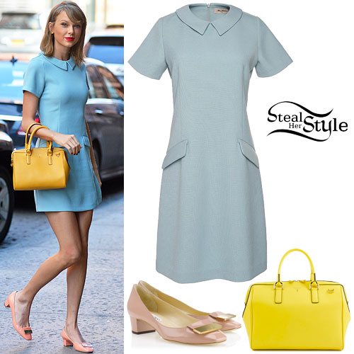 Taylor Swift: Pastel Blue Dress Outfit