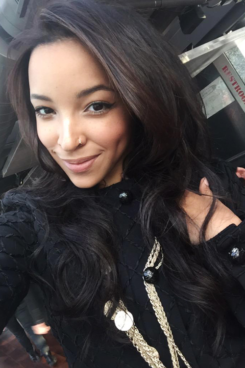 Tinashe Straight Black Chin Length Layers Hairstyle