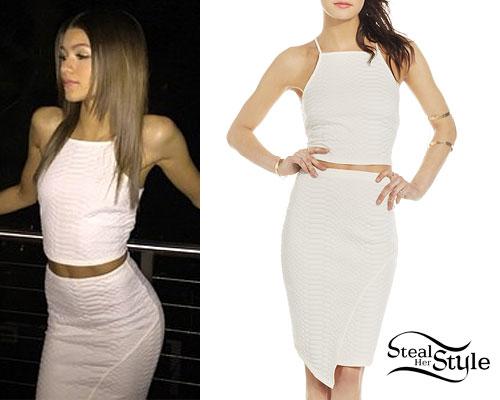 Zendaya: Crop Top & Skirt Sets