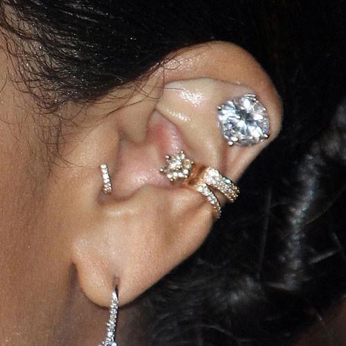 6 celebrity inner conch piercings steal her style. Black Bedroom Furniture Sets. Home Design Ideas