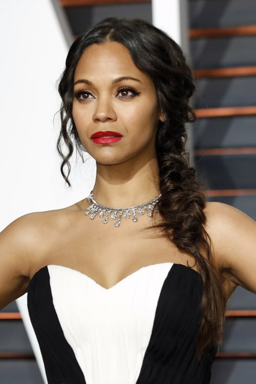 Zoe Saldana Side Braid | Black Hairstyle and Haircuts